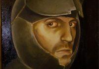 Holy Fox Self portrait acrylic on Canvas 2007