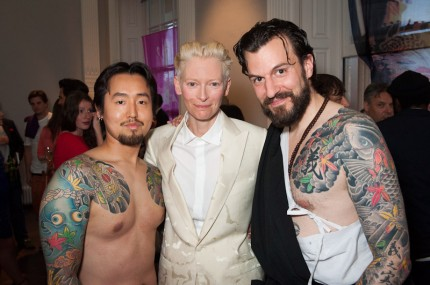 London Fashion week Horiyoshi3 event. Meeting Tilda Swinton. Photo by David Jensen