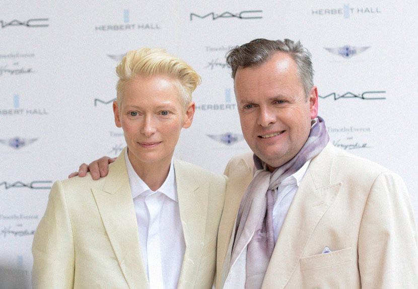 Timothy Everest and Tilda Swinton