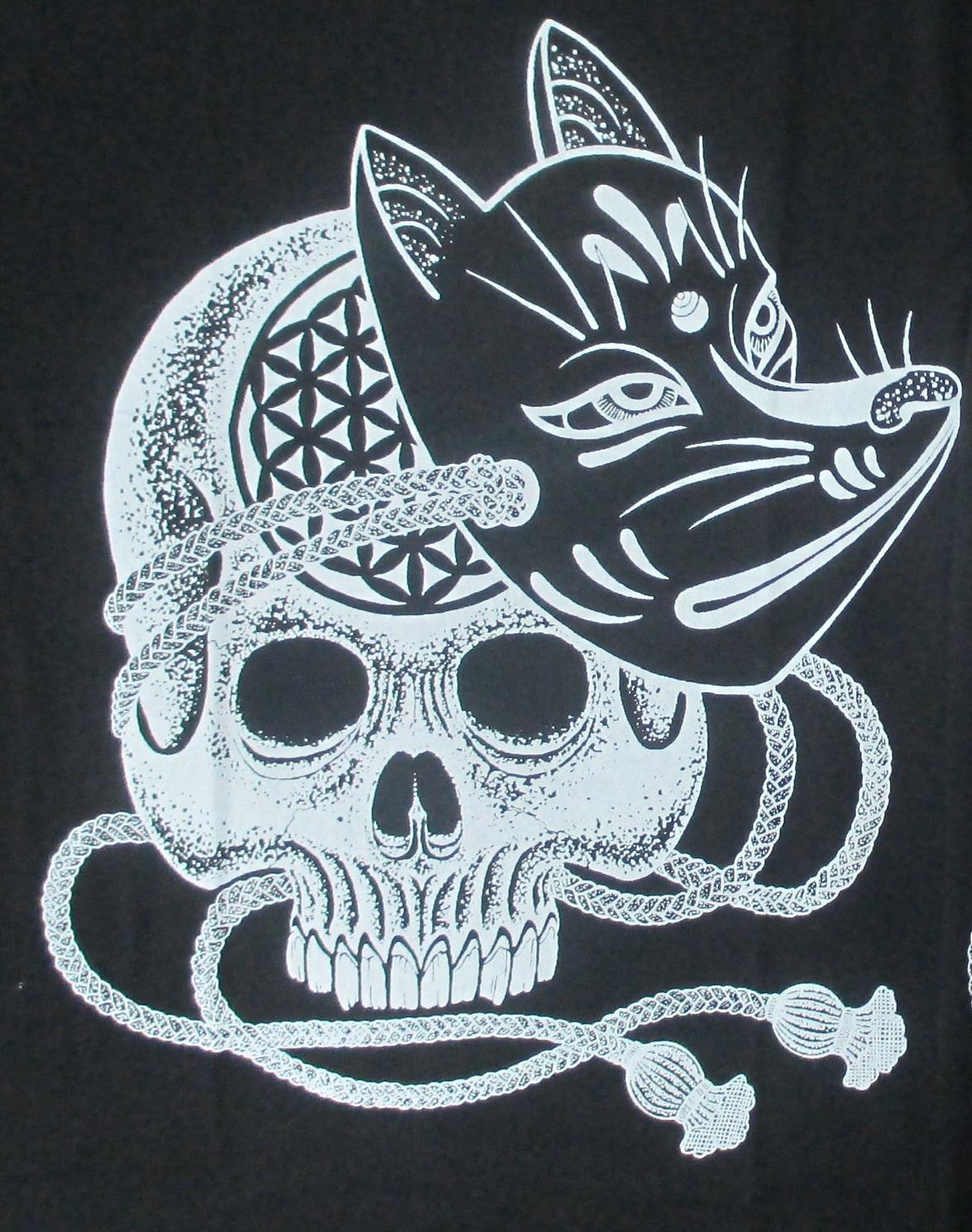 tshirt skull fox